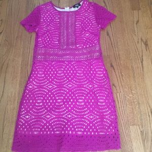 ABS Collection Crochet Lace Dress, Like New.